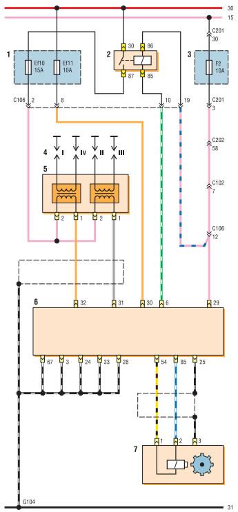 Электросхема электронной